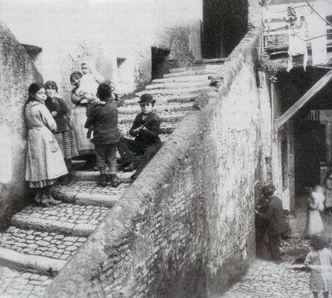 """Ettore Roesler Franz: """"Gruppo di ragazzi nel ghetto"""" c.a. 1880."""