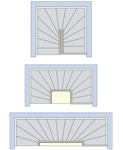 Abmessungen Treppenvarianten