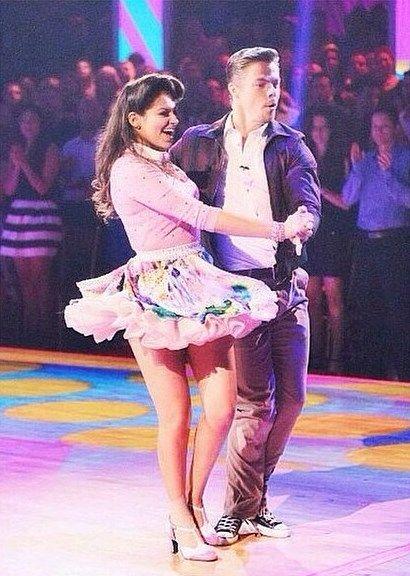 Derek Hough & Bethany Mota dance the jive Dancing With the STars - Season 19 - week 1 - 9-15-2014