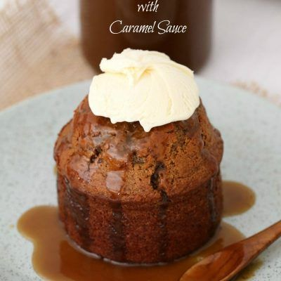Quick & easy Sticky Date Puddings with Caramel Sauce = the BEST comfort food dessert! These are sure to become a family favourite after just one bite...