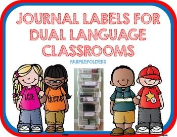 These labels are great for dual language classrooms. This is a collection of 6 journal labels, 1 homework label and 2 blank labels. You can add journal labels to your cubbies, bins, wall, boxes, etc.Labels include:Cuadernos de ciencias- Science JournalsCuadernos de matematicas-Math JournalsCuadernos de estudios sociales-Social Studies JournalsCuadernos de artes de lenguaje-Language Arts JournalCuaderno de escritura-Writing JournalCuaderno de arte-Art JournalTarea-Homework