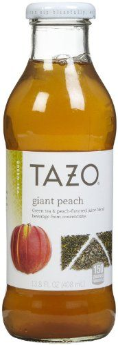 Tazo Giant Peach Iced Tea - 13.8 oz - 12 ct -- Check out this great article. #BottledIcedTea