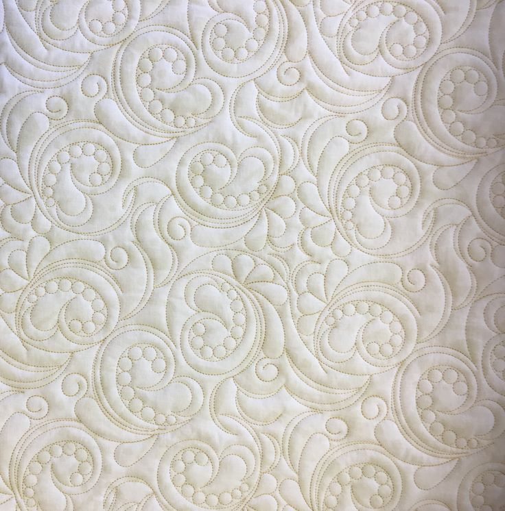 Pearls and swirls - lovely heritage style quilting design #e2e #alloverquilting #digitisedquilting