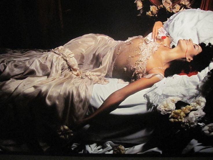"""ilesdessaintes: """"Farida Khelfa, The Agony of Marguerite Gautier, Paris, 1992 by Jean-Paul Goude """""""