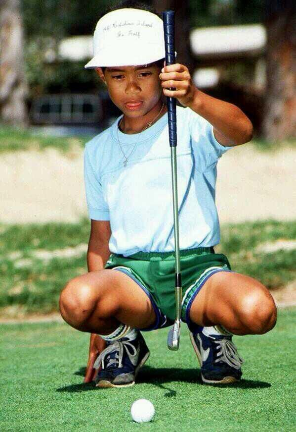 6 year old Tiger Woods  Never too early to learn to play #golf  www.game-inglove.com Game-inglove