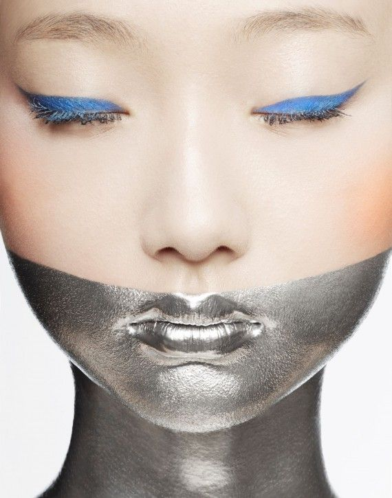 silver and blue Photographer: Pascal Demeester  Makeup: Gregg Brockington  Model: Yue
