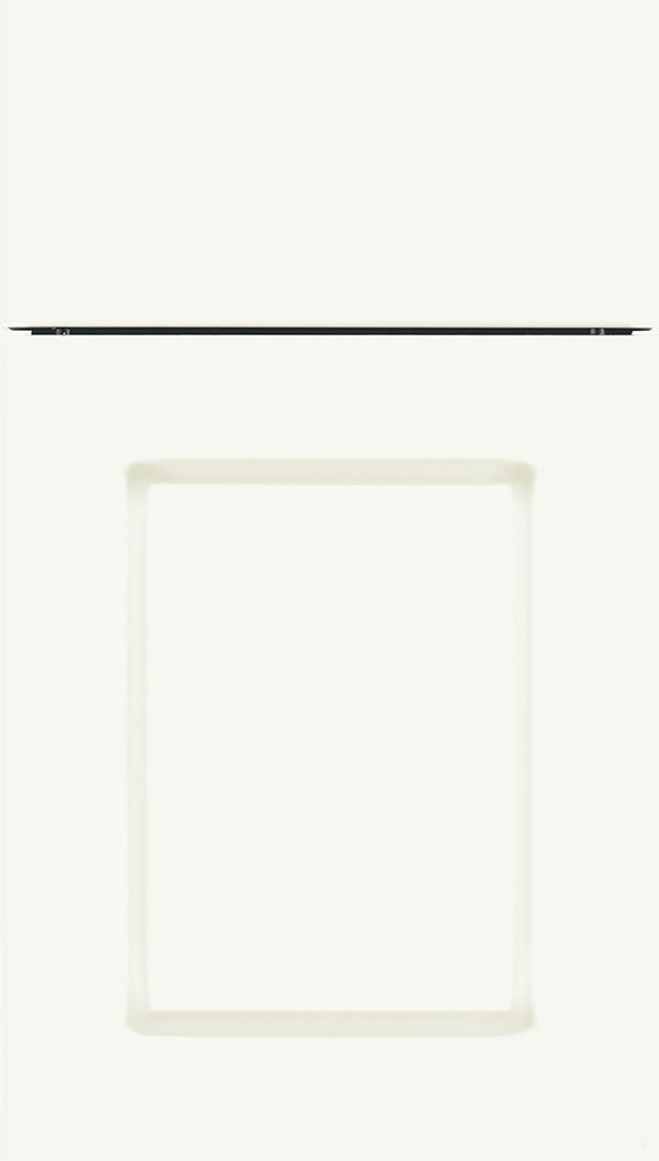 Manchester Thermofoil cabinet door in Satin White Kitchen and pantry cabinets