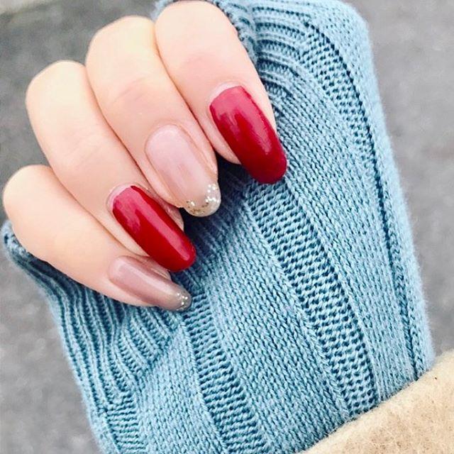 水色と赤の組み合わせ大好き 今週#SHINee ばっか聴いてるぞw 気が多いw #危ない #レトロ #セルフネイル #diormakeup #dior #ootd #dreamgirl がすき🙏❤️