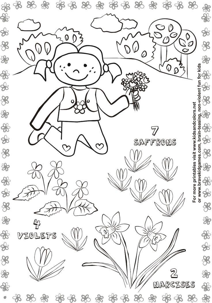 Spring Activity Worksheets For Kids Spring Pinterest
