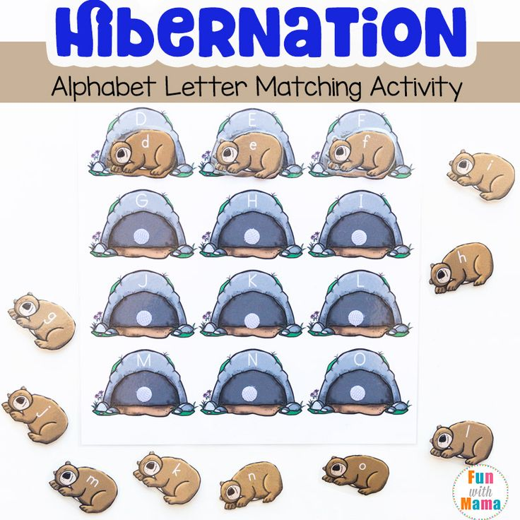 This hibernation preschool alphabet letter matching activity is the perfect addition to your preschool winter lesson plans. Children can match the uppercase and lowercase alphabet letters to place the bear in their correct caves.Hibernation Preschool Alphabet Letter Matching Activity We do a lot of alphabet activities for kids at home. Preschool children are naturally curious...Read More »