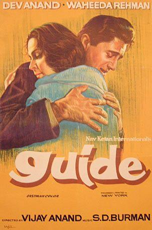 Guide (1965); DIRECTOR: Vijay Anand, STARS: Dev Anand, Waheeda Rehman; MUSIC DIRECTOR: Sachin Dev Burman #Bollywood #Timeless #Classic #Movie #Filmy #MumbaIMatinee #Cafe #Delhi