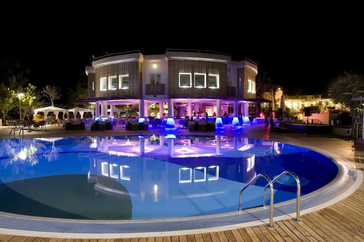 Club Med Bodrum Palmiye (Turquie) by night