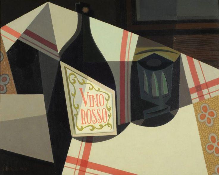 Vino rosso (1940) Oleo sobre tela - Emilio Pettoruti (Argentino 1892-1971) Museo Nacional de Bellas Artes de Buenos Aires