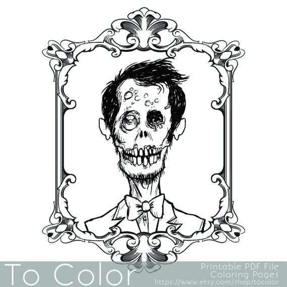120 best Horror Coloring Pages images on Pinterest Zombie girl