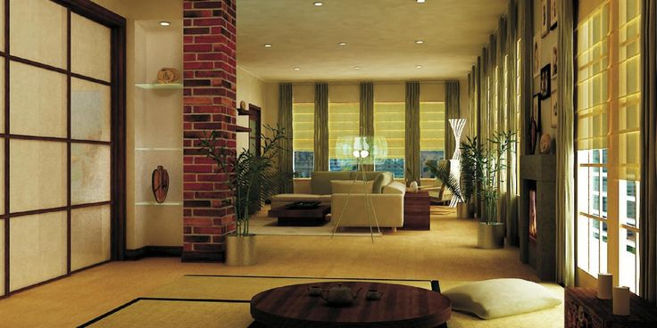Zen living room zen living room and yoga space 3736 1900 for Living room zen design