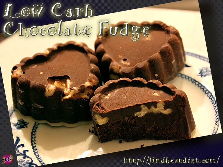 Make this Low Carb Chocolate Fudge for your sweetheart on Valentine's Day! It's easy to make and only 2 carbs for each pretty heart!