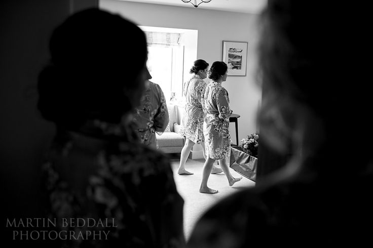 Bridesmaids rehearsing