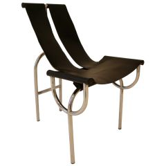 view this item and discover similar dining room chairs for sale at u0027tri sling chair of tubular steel and leather by roberto gabetti and