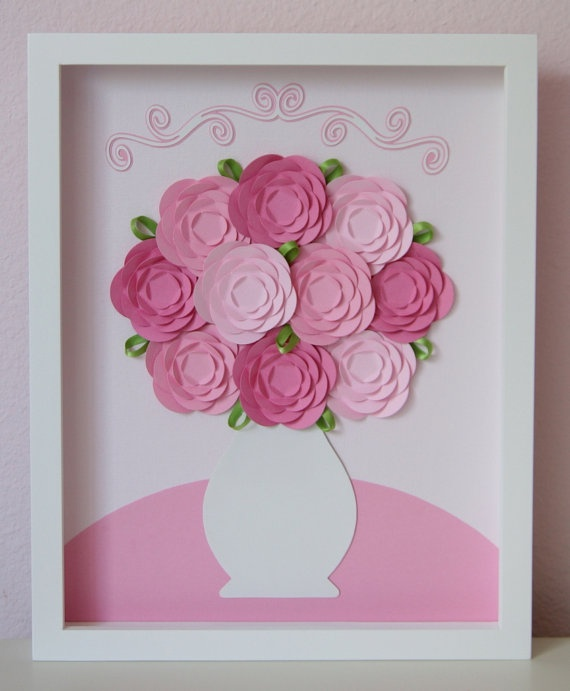 Baby Pink Roses 11x14 framed collage by studiohappynest on Etsy, $75.00  I purchased this at the New Tampa Junior Woman's Club auction- Madeline loves it!!  Thanks Studio Happy Nest for your donation!