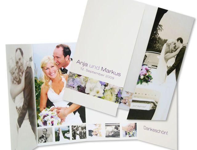 In Diesen Schönen Foto Hochzeit Dankeskarten Gibt Es Besonders Viel Platz  Für Bilder Von Der Hochzeit Oder Fotos Vom Brautpaar