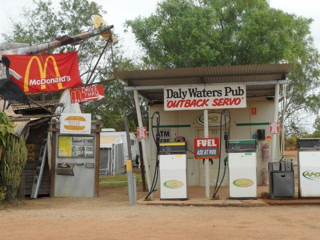 daly waters sign love the maccas one