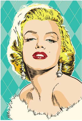 Marilyn Monroe Pop Art Print by RedRobotCreative on Etsy