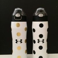 Polka Dot Under Armour Water Bottles