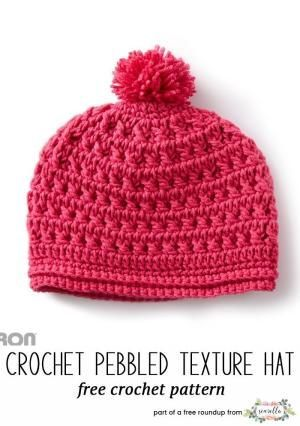 Crochet this easy pebbled texture kids child hat from Yarnspirations from  my winter kids hats free pattern roundup! by robert 5fff1f416ea