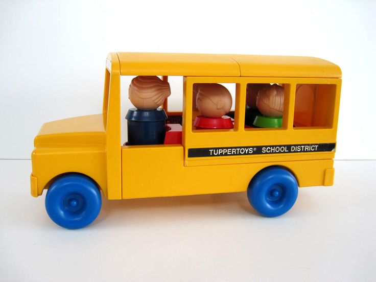 Tupperware Toy School Bus and Classroom Toddler Gift Round Little People 1980s by BrooklynStVintage on Etsy