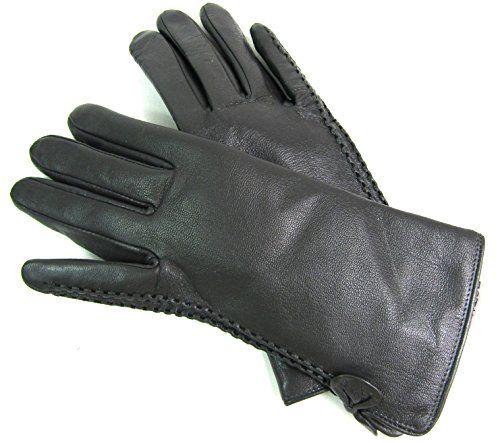 Damen Lederhandschuhe Echt Leder Handschuhe gefüttert Winter Nappaleder 1X
