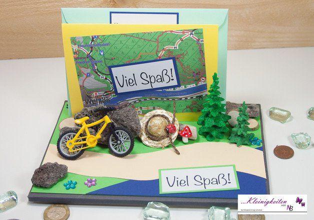 """Weiteres - Karte Fahrrad """"Viel Spaß"""", Gutschein, Geldgeschenk - ein Designerstück von Kleinigkeiten-von-NB bei DaWanda"""