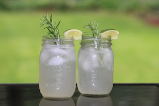 Sparkling Rosemary Lime Cocktail