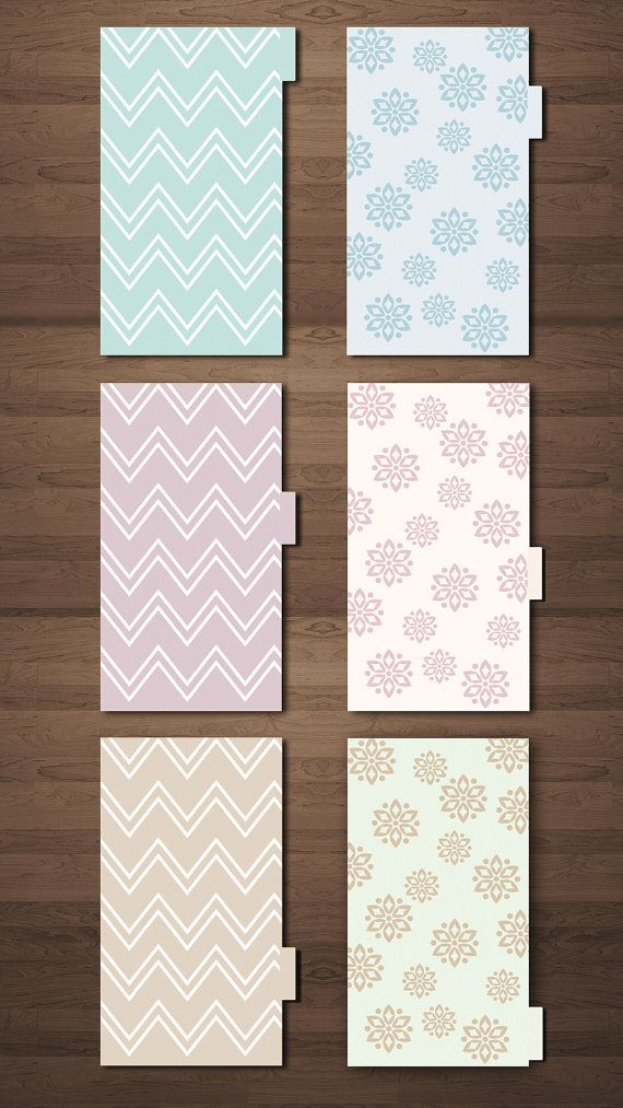 6 Dividers for Filofax Size Personal - GraphicWithLove Shop Etsy
