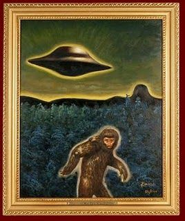Sasquatch UFO.... My two favorite things in one picture