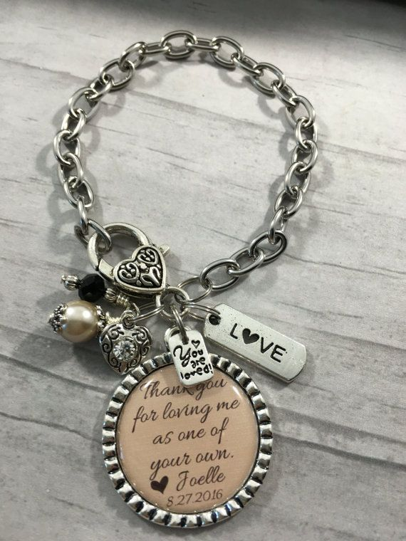 Stepmother Of The Bride Bracelet Bridal Party Gift Mother Shower Thank You Wedding Jewelry Step Mom