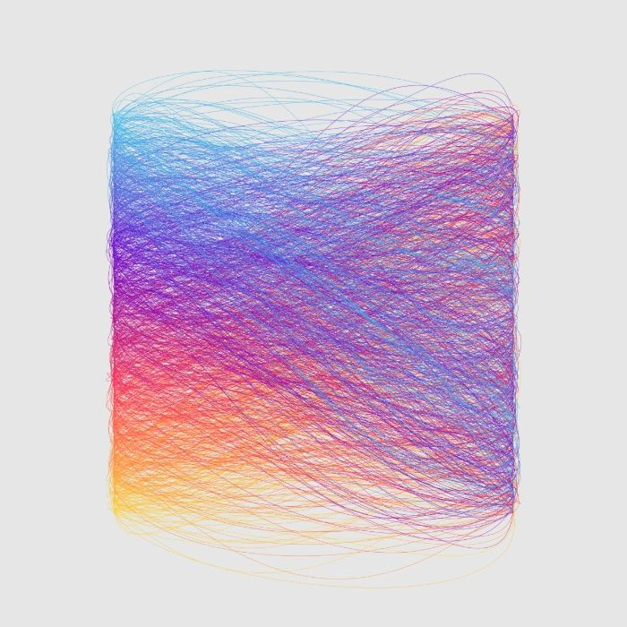 Generative Hue Remix Rainbow Art Print by Hyper Glu   Society6