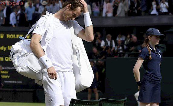 Querrey deja a Murray fuera de Wimbledon y Djokovic se retira por una lesión en el brazo