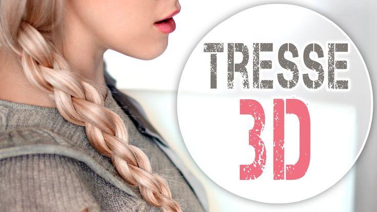 Tresse 3D à 4 brins ✿ Tuto coiffure pour tous les jours