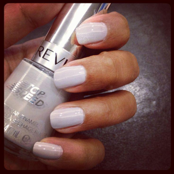 Grey nail painting