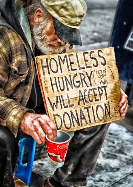 More and more people are loosing their jobs in America.  Be kind to those less fortunate.
