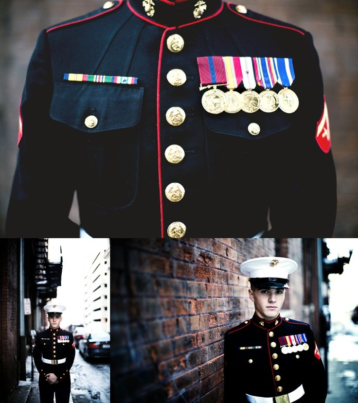 Groom in Marine Corps uniform