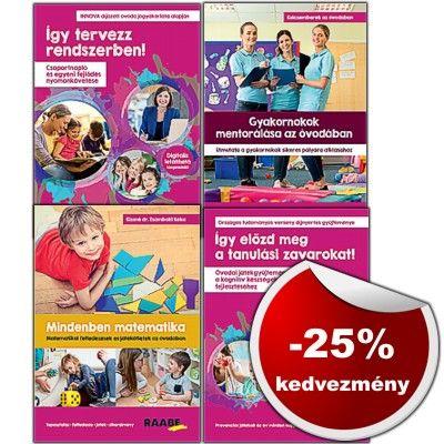 4 könyv 3 áráért! Óvodai szakkönyvek - menedzsment és módszertan témakörben RENDELJE MEG MOST!