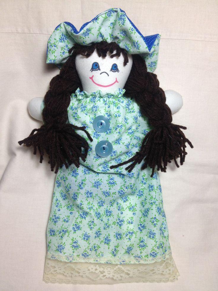 JenDoll #7, Handmade, Rag Doll, Country Prints by JenDolls on Etsy