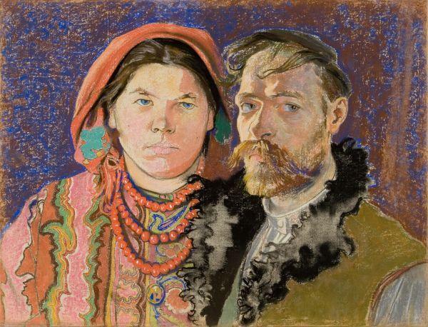 Autoportret z żoną - Stanisław Wyspiański