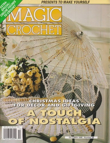 This so reminds me of the black parasol that Abbie carries on NCIS. Magic Crochet Magazine Number 98 October 1995