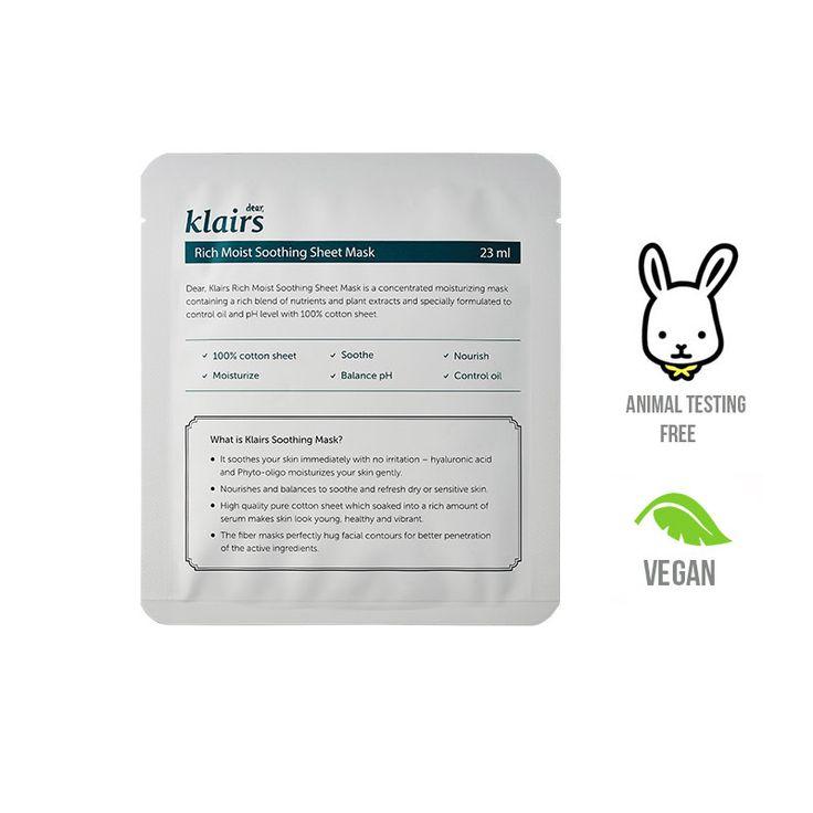 Vegan Korean Sheet Masks using 100% pure cotton.