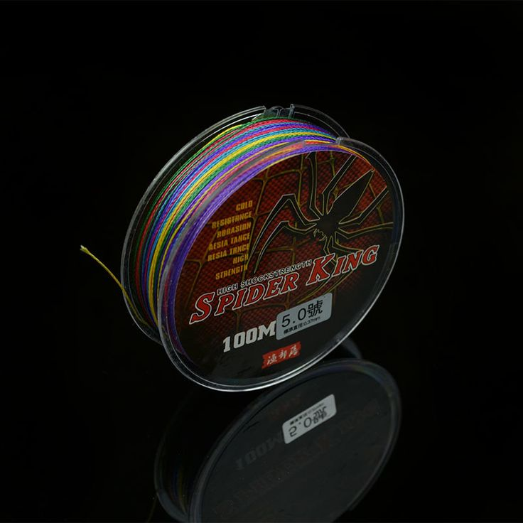 100m braided fishing line multifilament 4 strand wire with Nano coating PE material strong knot strength abrasive-resistant line
