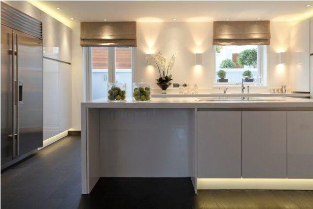 Kelly Hoppen Kitchen. Great lighting!