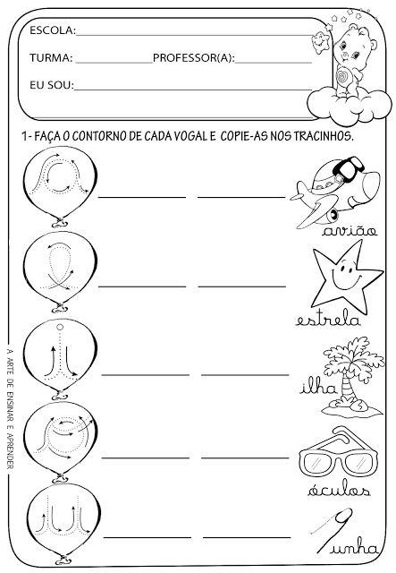 Atividades prontas - Vogais cursivas
