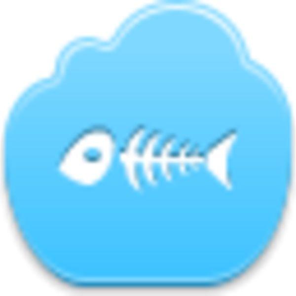 Free Blue Cloud Fish Skeleton